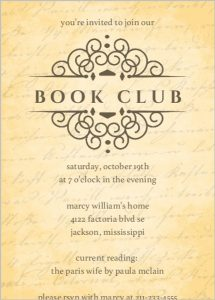 Book Club Invitation Letter with samples Sample Invitation Letter